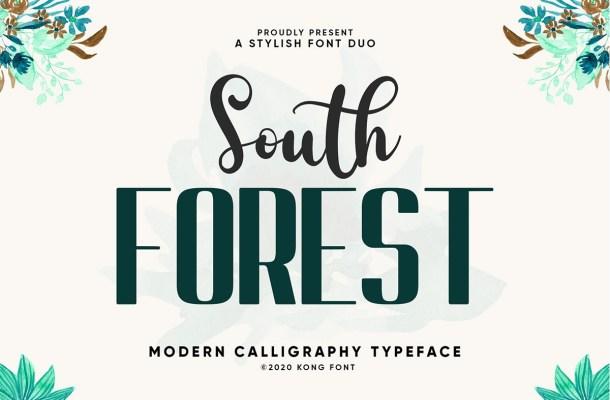 South Forest Sans & Script Font Duo