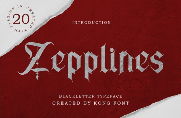 Zepplines Blackletter Typeface-1