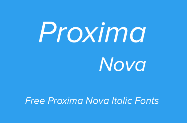 Proxima Nova Italic Free Alternatives