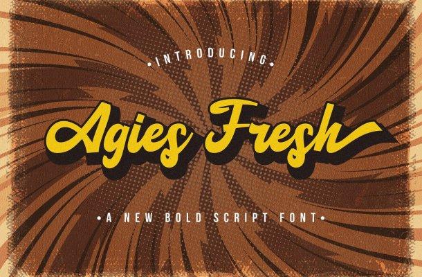 Agies Fresh Bold Script Font