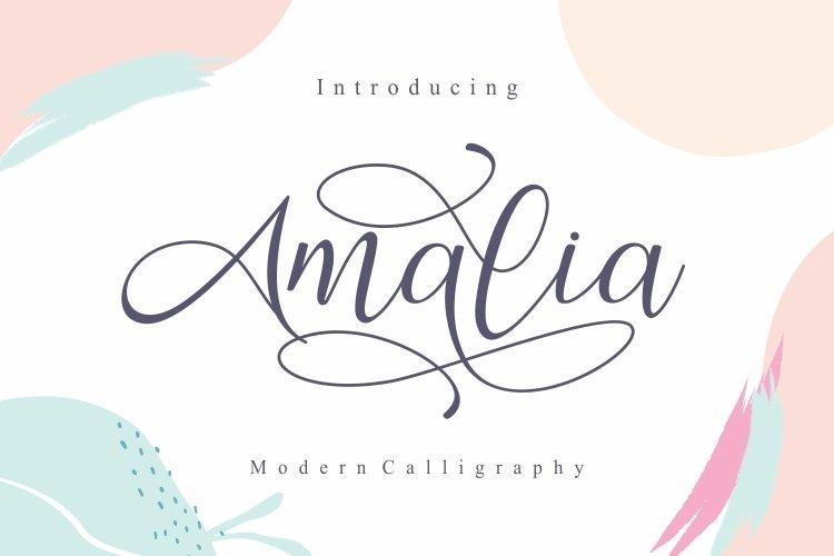 Amalia Modern Calligraphy Font