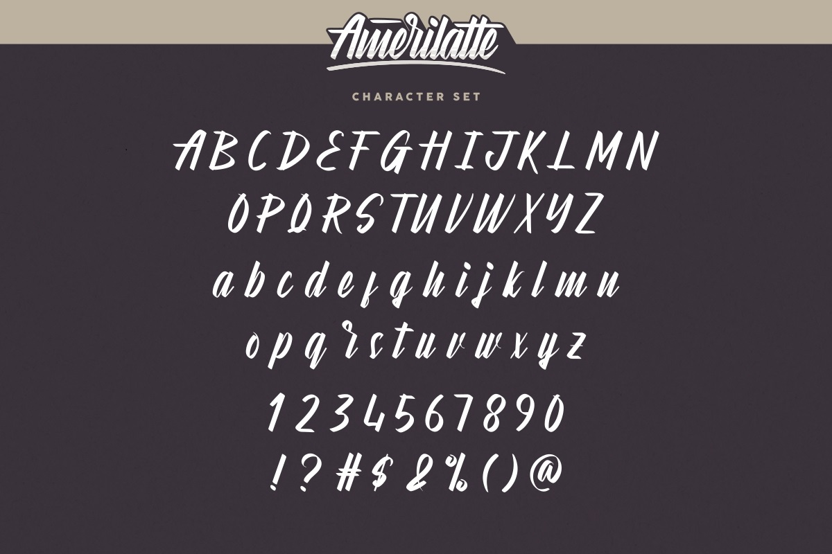 Amerilatte Bold Script Font-3