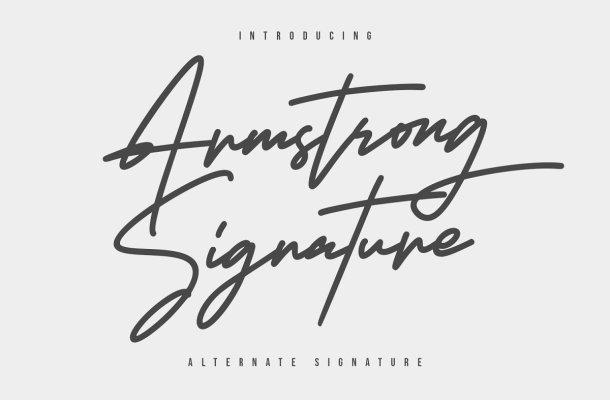 Armstrong Signature Script Font
