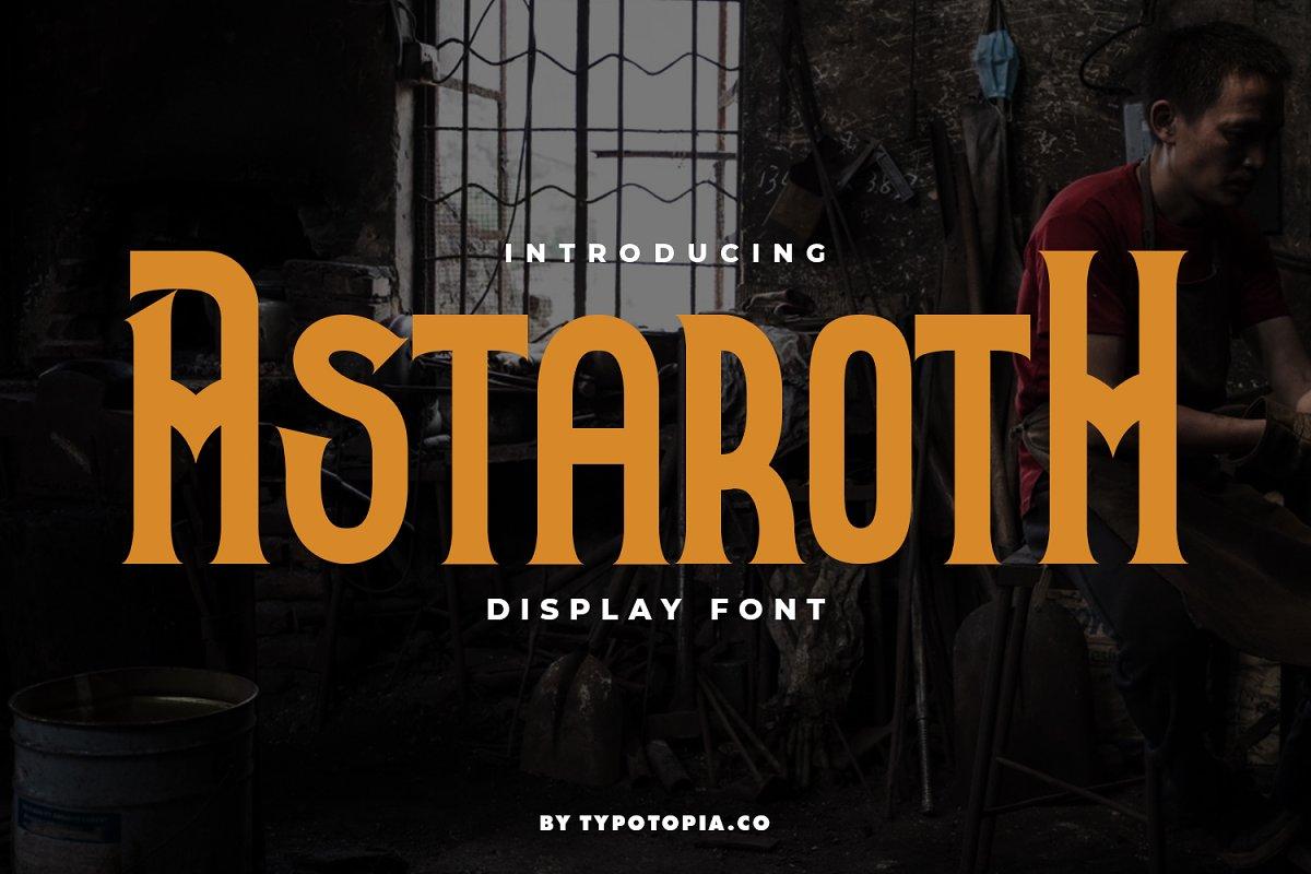 Astaroth Serif Display Font