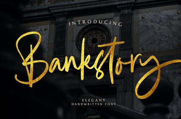 Bankstory Elegant Handwritten Script Font