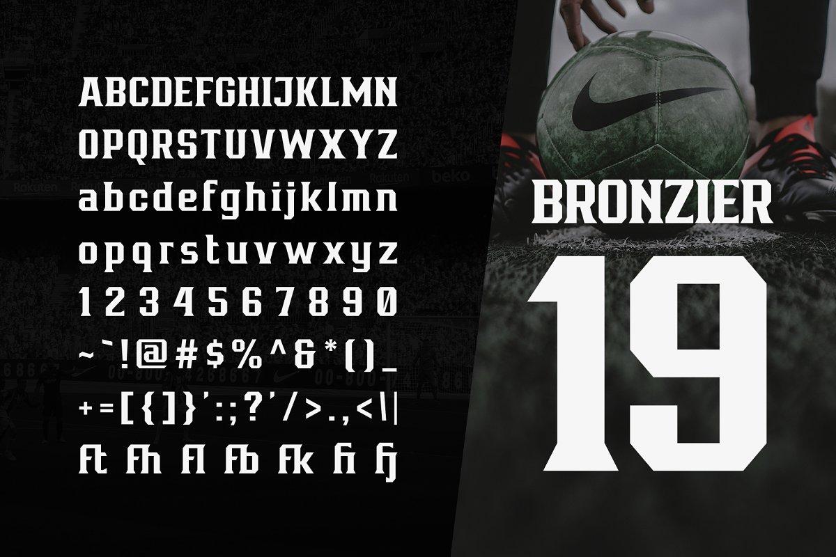 Bronzier Sporty Serif Font Family-3