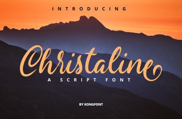 Christaline Script Font
