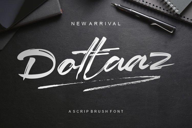Dottaz Brush Script Font