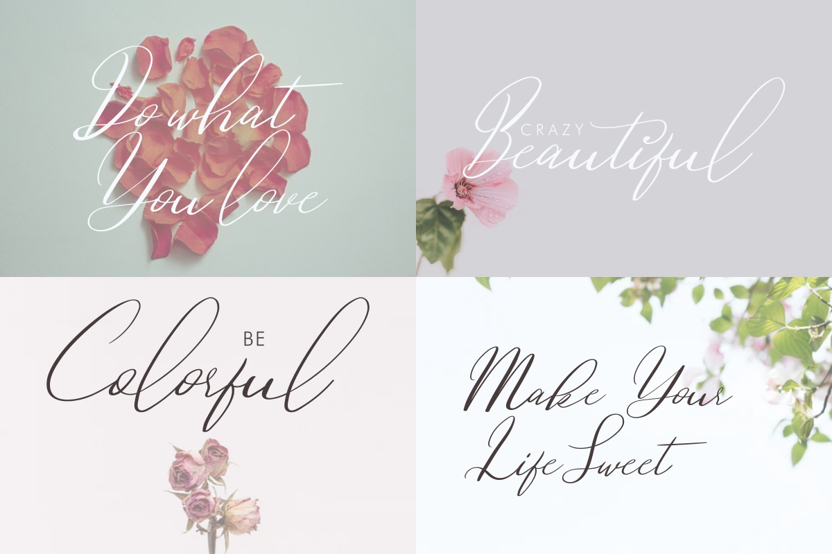 Dovetail Calligraphy Script Font-2