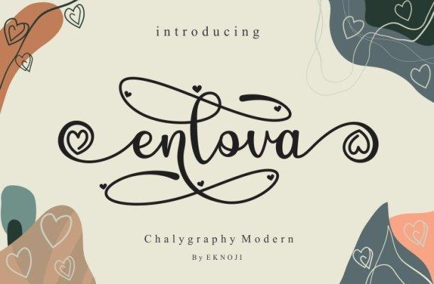 Enlova Modern Calligraphy Script Font