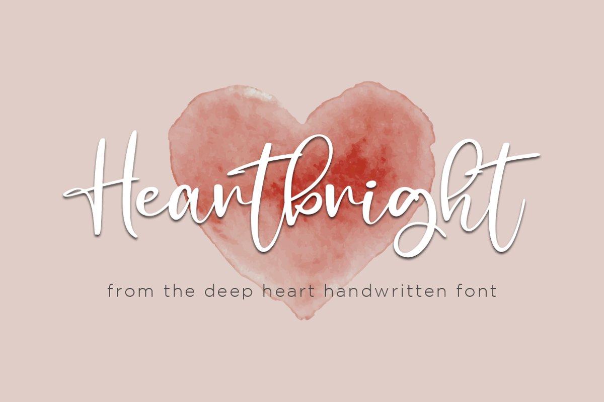 Heartbright Handwritten Script Font
