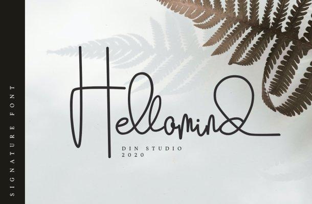 Hellomind Signature Script Font