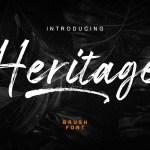 Heritage Hand Brush Script Font