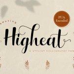 Higheat Stylish Calligraphy Font