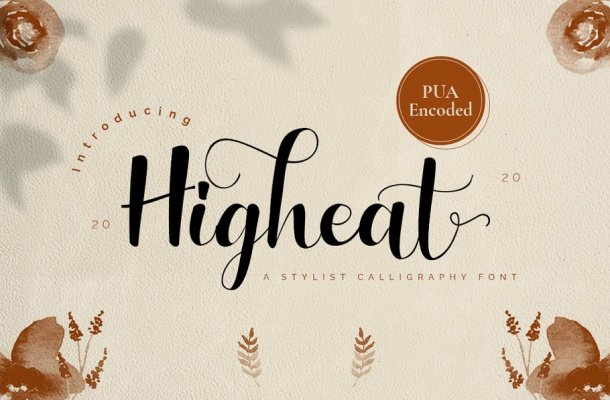 Higheat Stylish Calligraphy Font