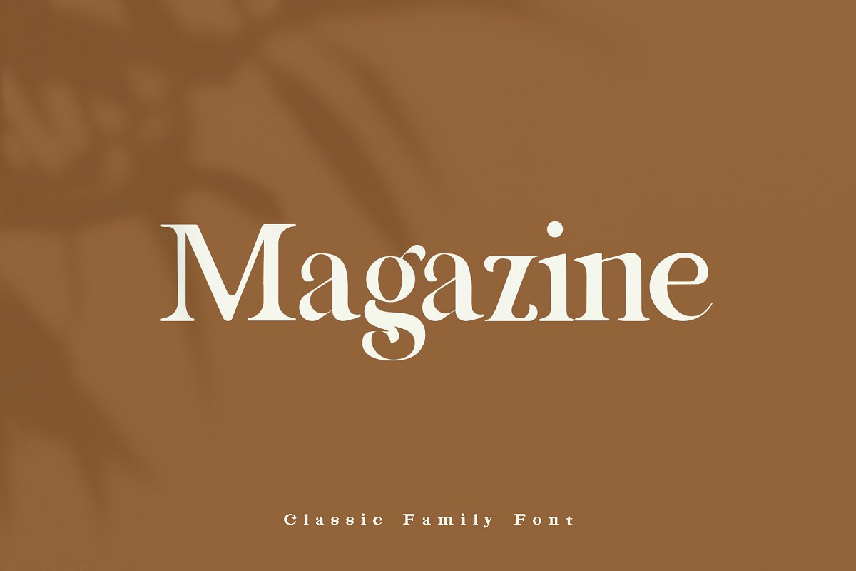Magazine Classic Serif Font