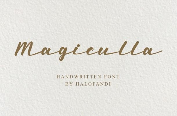 Magiculla Modern Handwritten Font