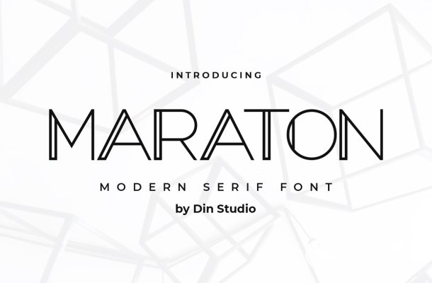Maraton Modern Sans Display Font