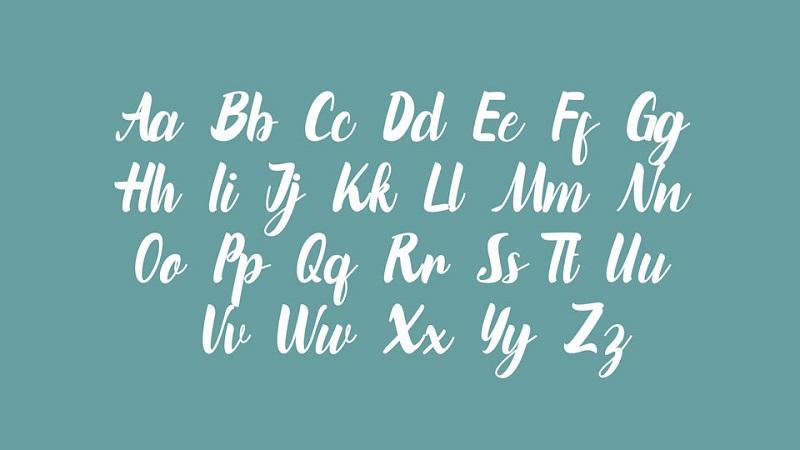 Marinto Modern Calligraphy Script Font-2