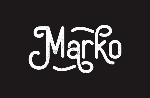Marko Vintage Display Font