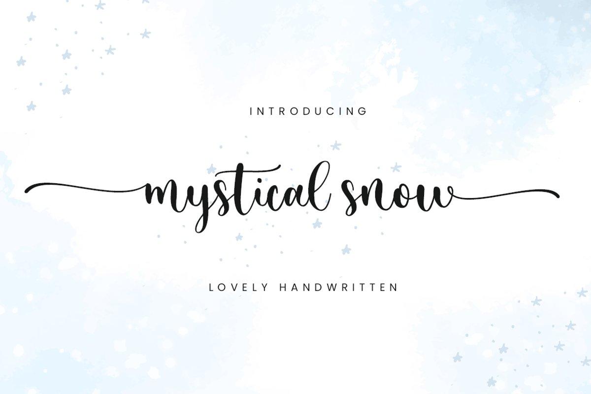 Mystical Snow Calligraphy Script Font