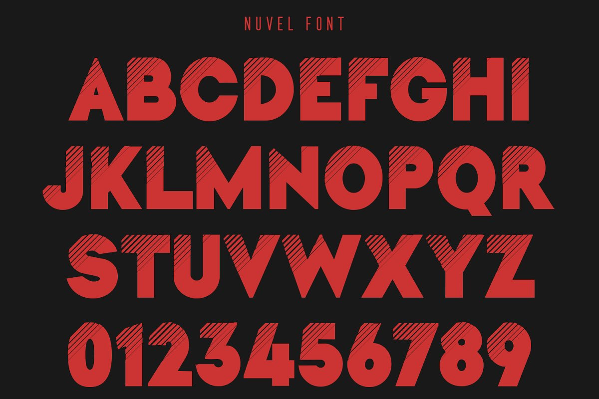 Nuvel Modern Sans Serif Typeface-3