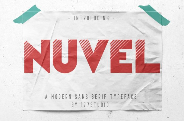 Nuvel Modern Sans Serif Typeface