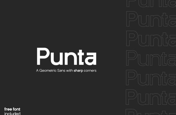 Punta Geometric Sans Serif Font