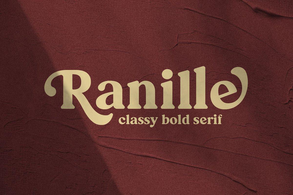 Ranille Classy Bold Serif Font