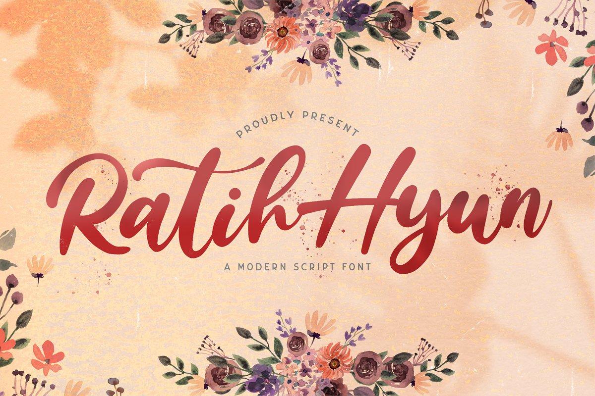 Ratih Hyun Lovely Calligraphy Font