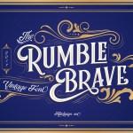 Rumble Brave VIntage Display Font