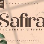 Safira Modern Feminine Serif Font