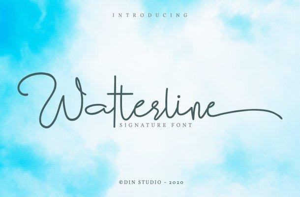 Watterline Elegant Signature Script Font
