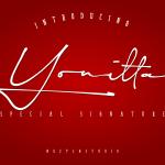Yonitta Signature Script Font