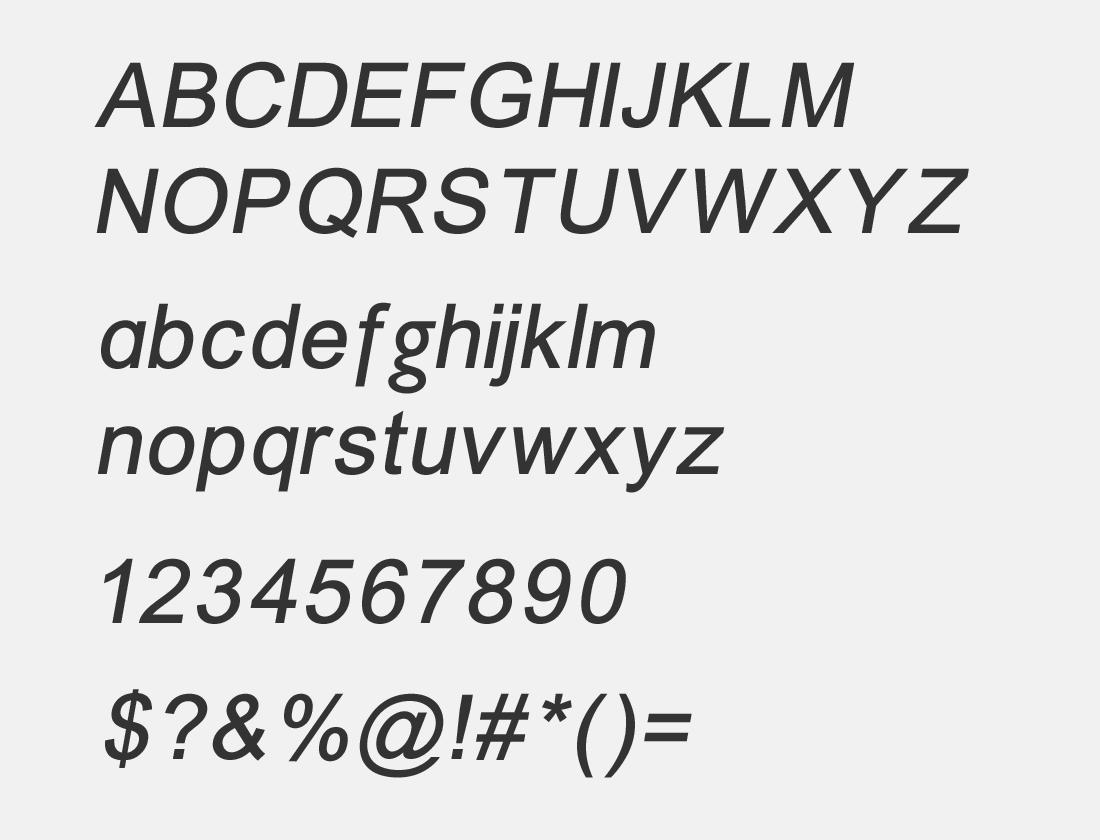 3 ER Univers 866 Italic font