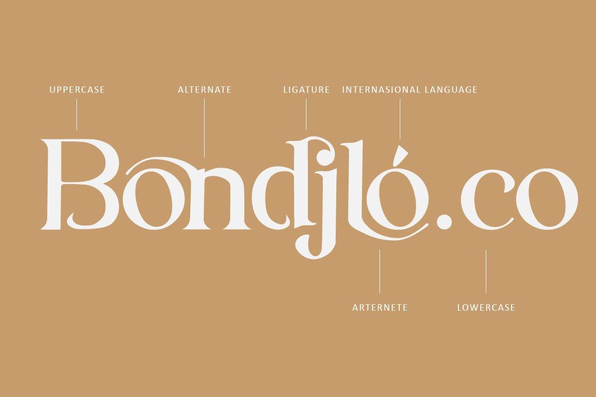 Bondjlo Font-2