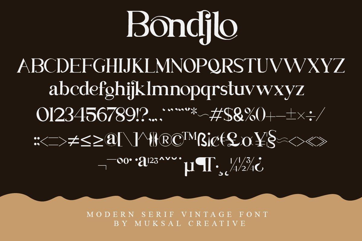 Bondjlo Font-3