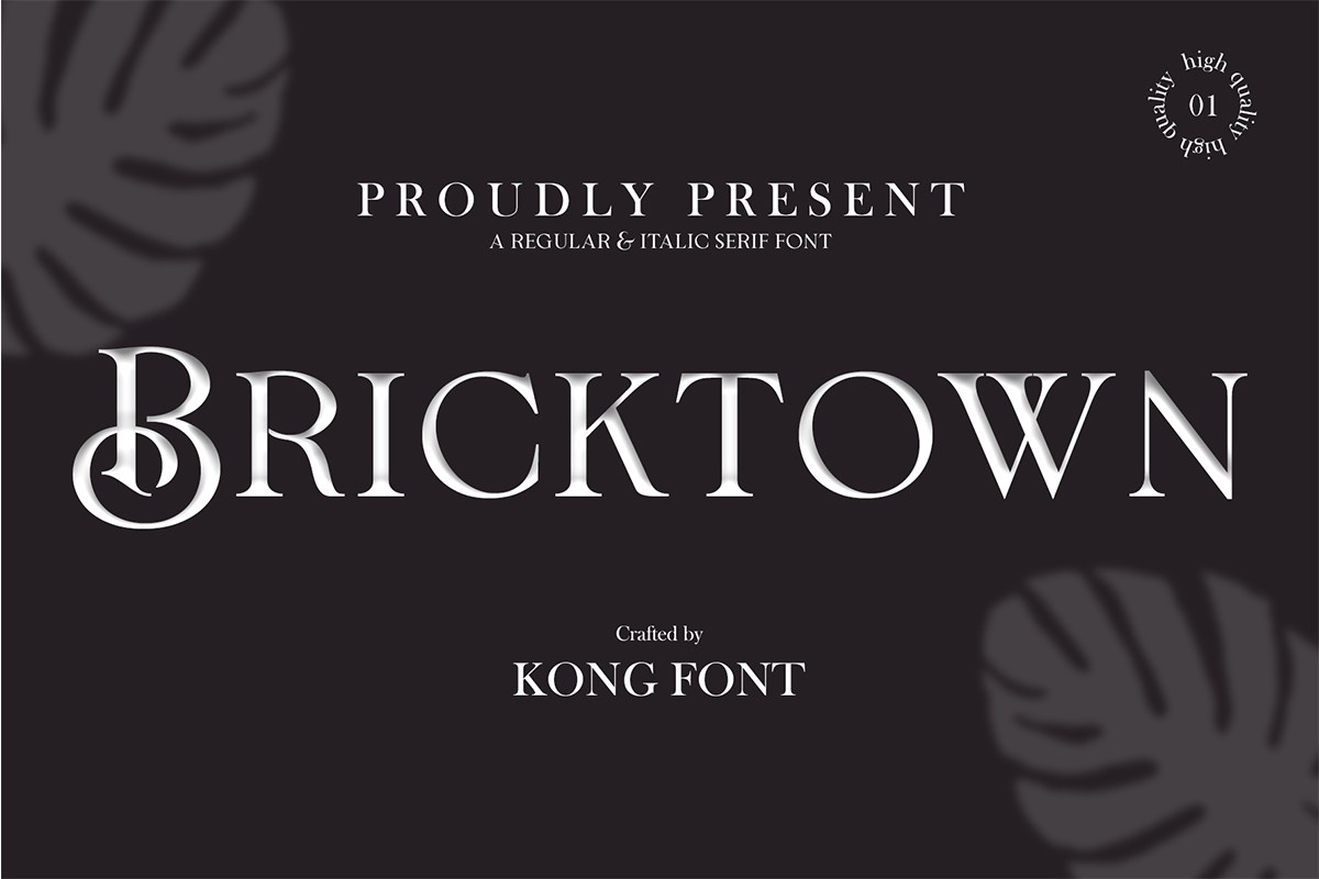 Bricktown Classic Elegant Serif Font