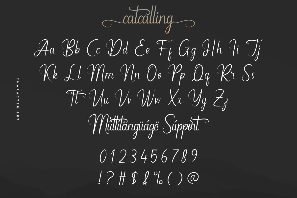 Catcalling Font-3