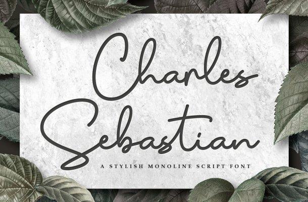 Charles Sebastian Monoline Script Font