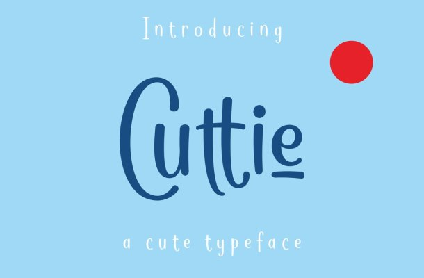 Cuttie Typeface