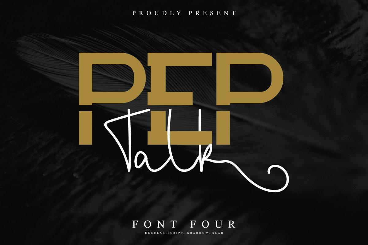 Pep Talk Font Duo-1