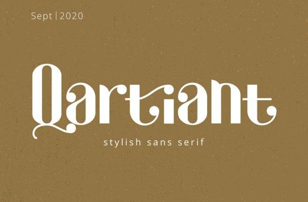 Qartiant Stylish Sans Serif Font