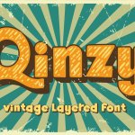 Qinzy Vintage Layered Font