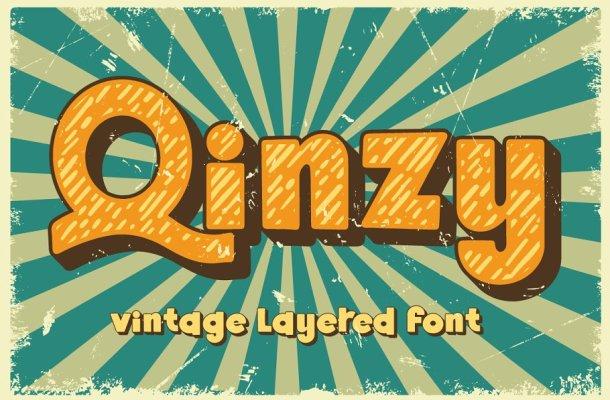 Qinzy Vintage Layered Font