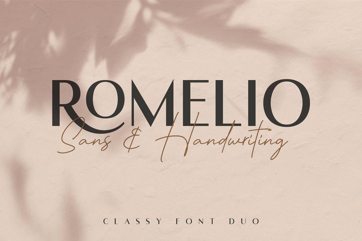 Romelio Classy Sans Serif Font