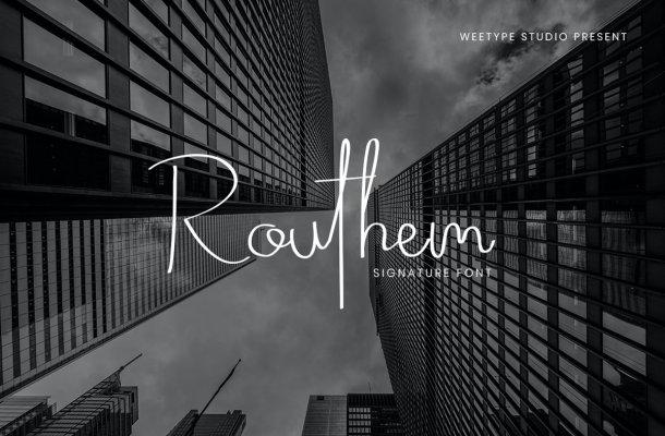 Routhem Handwritten Signature Font