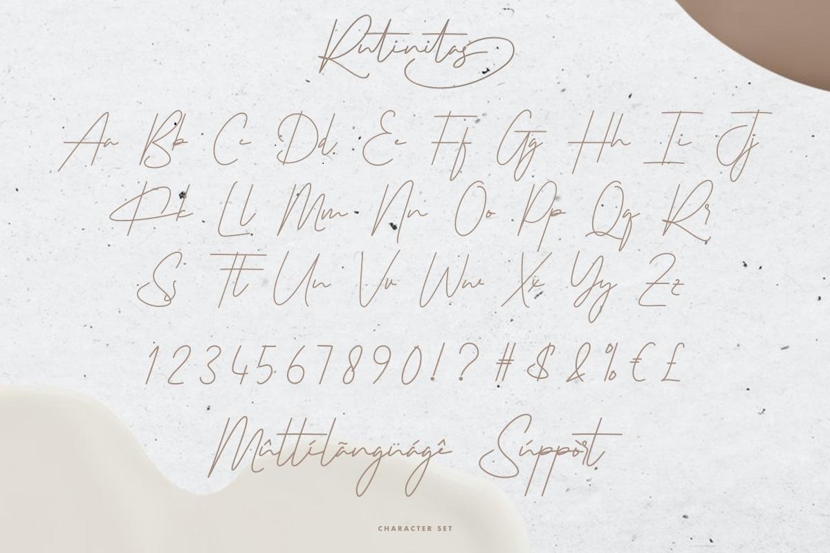 Rutinitas Font-3