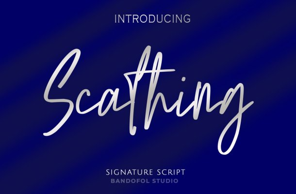 Scathing Font