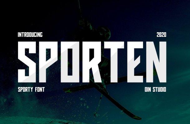Sporten Classic Sport Display Font